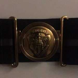 Gucci Accessories - Vintage Gucci Gold Hardware Elastic Waist Belt